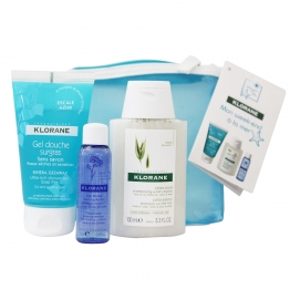 KLORANE TROUSSE WEEK END A LA MER  SHAMPOOING 100ML + GEL DOUCHE 75ML + EAU DEMAQUILLANTE 25ML