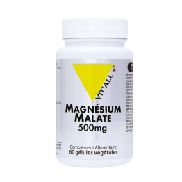 MAGNESIUM MALATE 500MG 60 GELULES VIT'ALL+
