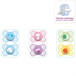 MAM SUCETTES ANATOMIQUES EN SILICONE COLLECTION PERFECT 0-6 MOIS X2