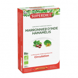 MARRONIER D'INDE HAMAMELIS CIRCULATION 20 AMPOULES SUPERDIET