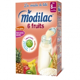 MODILAC CEREALES 6 FRUITS 8 MOIS-3 ANS 300G