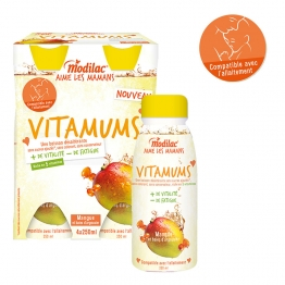 MODILAC VITAMUMS MANGUE ET BAIES D'ARGOUSIER 4X250ML