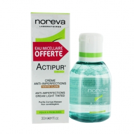 NOREVA ACTIPUR CREME ANTI IMPERFECTIONS TEINTE CLAIRE 30ML + SOLUTION MICELLAIRE 100ML