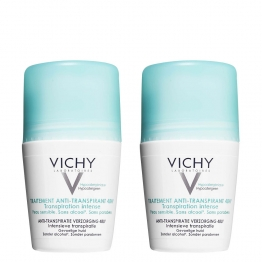 VICHY DEODORANT ANTI TRANSPIRANT BILLE LOT DE 2 X 50ML