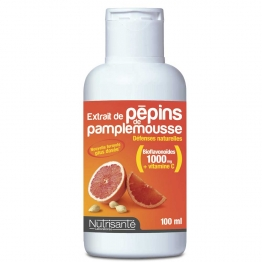 NUTRISANTE EXTRAIT DE PEPINS DE PAMPLEMOUSSE DEFENSES NATURELLES 100ML