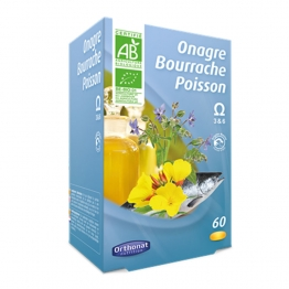 ORTHONAT ONAGRE BOURRACHE POISSON 60 GELULES
