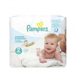 PAMPERS NEW BABY SENSITIVE PREMIUM PROTECTION 3-6KG 28 COUCHES