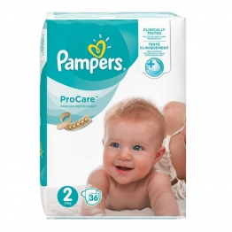 PAMPERS PROCARE COUCHE PREMIUM PROTECTION TAILLE 2 3-6 KG 36 UNITES