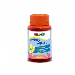 PEDIAKID GOMMES OMEGA3 GOUT CITRON 60 OURSONS
