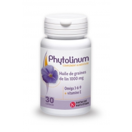 NATURAL NUTRITION PHYTOLINUM HUILE DE GRAINE DE LIN 100MG 30CAPS