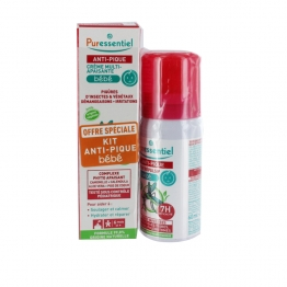 PURESSENTIEL ANTI-PIQUE BEBE SPRAY REPULSIF ANTI-MOUSTIQUES 60ML + CREME MULTI-APAISANTE 30ML