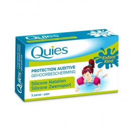 QUIES PROTECTION AUDITIVE SILICONE NATATION ENFANTS 3 PAIRES