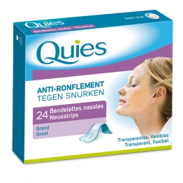 QUIES ANTI-RONFLEMENT BANDELETTES NASALES GRAND FORMAT X24