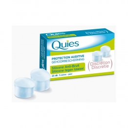 QUIES PROTECTION AUDITIVE SILICONE ANTI BRUIT 6 UNITES