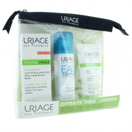 URIAGE HYSEAC KIT SOIN 3-REGUL 40ML + GEL 50ML + EAU THERMALE 50ML