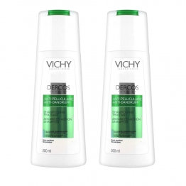 VICHY DERCOS ANTI-PELLICULAIRE SHAMPOOING TRAITANT CHEVEUX NORMAUX A GRAS 2X200ML