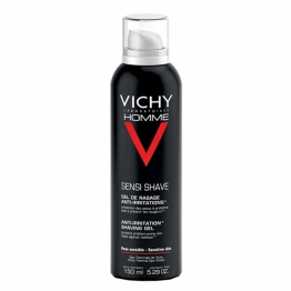 VICHY HOMME GEL DE RASAGE ANTI-IRRITATIONS PEAU SENSIBLE AEROSOL 150ML