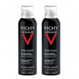 VICHY HOMME GEL DE RASAGE ANTI-IRRITATIONS DUO 2X150ML