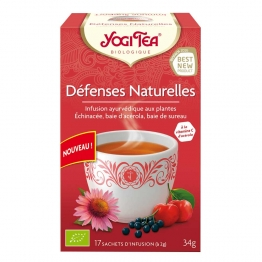 YOGI TEA INFUSION BIOLOGIQUE DEFENSES NATURELLES 17 SACHETS