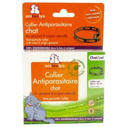 ANIBIOLYS COLLIERS ANTIPARASITAIRE CHAT + 12 MOIS