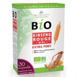 3 CHENES BIO GINSENG ROUGE EXTRA FORT 30 AMPOULES