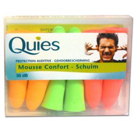 QUIES PROTECTION AUDITIVE MOUSSE CONFORT 35db 6 PAIRES