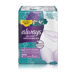ALWAYS DISCREET 10 SOUS-VETEMENTS TAILLE L NORMAL