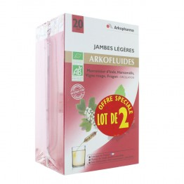 ARKOFLUIDES JAMBES LEGERES 2X20 AMPOULES