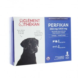 CLEMENT THEKAN PERFIKAN ANTIPARASITAIRES EXTERNES SPOT-ON GRANDS CHIENS 20 A 40KG X4 PIPETTES
