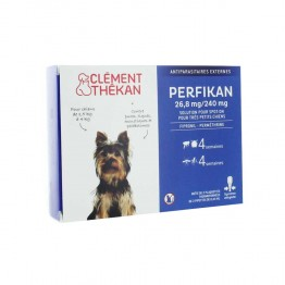 CLEMENT THEKAN PERFIKAN ANTIPARASITAIRES EXTERNES SPOT-ON TRES PETITS CHIENS 1,5 A 4KG PIPETTES X4