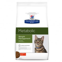 HILLS PRESCRIPTION DIET METABOLIC WEIGHT MANAGEMENT CHAT CROQUETTES POULET 4KG