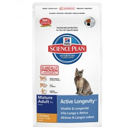 HILLS SCIENCE PLAN ACTIVE LONGEVITY CHAT MATURE 7 ANS ET PLUS CROQUETTES POULET 2KG