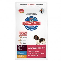 HILLS SCIENCE PLAN ADVANCED FITNESS CHIEN ADULTE 1 A 6 ANS MINI CROQUETTES POULET 2.5KG