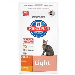 HILLS SCIENCE PLAN LIGHT CHAT ADULTE 1 A 6 ANS CROQUETTES POULET 1.5KG