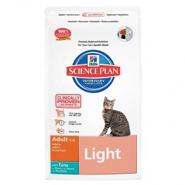HILLS SCIENCE PLAN LIGHT CHAT ADULTE 1 A 6 ANS CROQUETTES THON 1.5KG