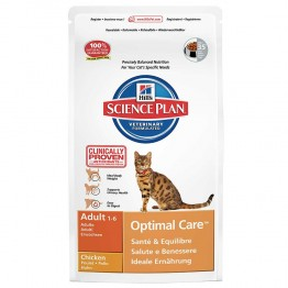 HILLS SCIENCE PLAN OPTIMAL CARE CHATS ADULTES 1 A 6 ANS CROQUETTES POULET 2KG