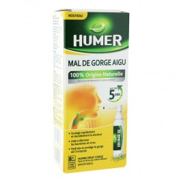 HUMER SPRAY MAL DE GORGE AIGU SANS SUCRE 30ML