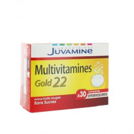 JUVAMINE MULTIVITAMINES GOLD 22 EFFERVESCENTS 30 COMPRIMES