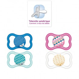 MAM SUCETTE ANATOMIQUE SILICONE AIR 6 MOIS + X2