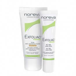 NOREVA EXFOLIAC SOIN ANTI-IMPERFECTIONS TEINTE DORE 30ML