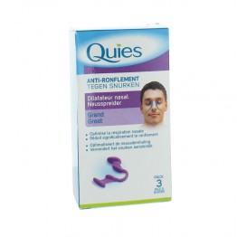QUIES ANTI RONFLEMENT DILATATEUR NASAL PACK 3 MOIS