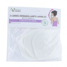 LES TENDANCES D'EMMA CARRES DEMAQUILLANTS LAVABLES EUCALYPTUS X 3