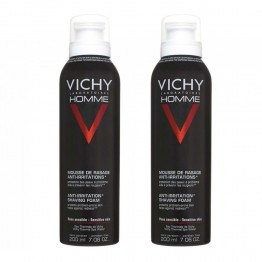 VICHY HOMME MOUSSE A RASER ANTI-IRRITATIONS DUO 2X200ML