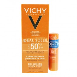 VICHY IDEAL SOLEIL CREME ONCTUEUSE SPF50+ 50ML + STICK SPF30